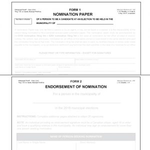 Item 1210/A - Nomination Forms - Prescribed Forms 1 & 2 Package (10pk)