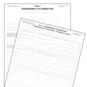 Item 1210/2A - Endorsement of Nomination - Form 2 (10pk)