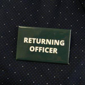 Item 1330 - Badge - Returning Officer