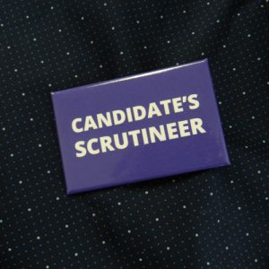 Item 1338 - Badge - Candidate's Scrutineer