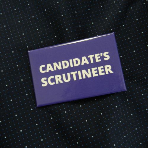 Item 1338 - Badge - Candidate's Scrutineer