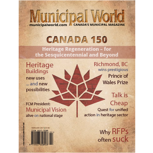 Municipal World Magazine's February 2017 issue Cover featuring: Heritage Buildings
