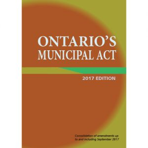 Ontario's Municipal Act, 2017 Edition - Item 0010