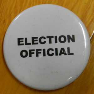 Item 1335 - Badge - Election Official