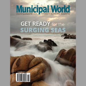 Municipal World Magazine November 2017 Issue Cover: Get Ready for the Surging Sea