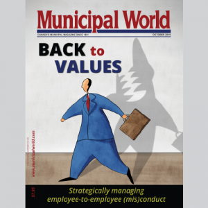 Municipal World Magazine's October 2016 issue cover featuring: Back to Values