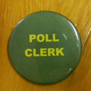 Item 1329 - Badge - Poll Clerk