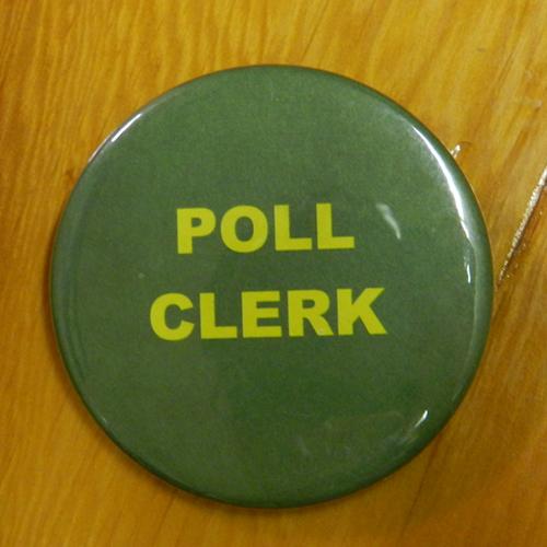 Item 1329 - Badge - Poll Clerk