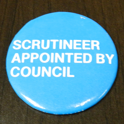 Item 1339 - Badge - Scrutineer appointed by council