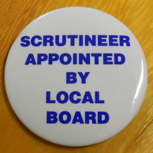 Item 1341 - Badge - Scrutineer appointed by local board