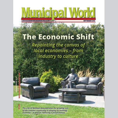 Municipal World Magazine's September 2016 issue cover featuring: The Economic Shift