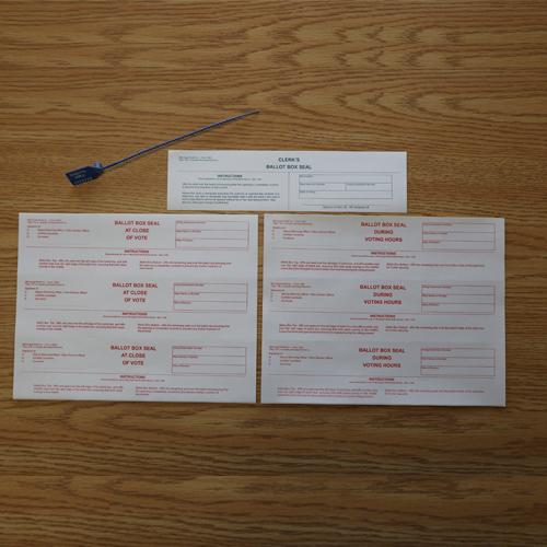 Ballot Box Seals Kit for enhanced security of your Ballot Boxes
