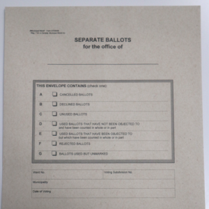 Separate Ballot Statement and Envelopes Kit