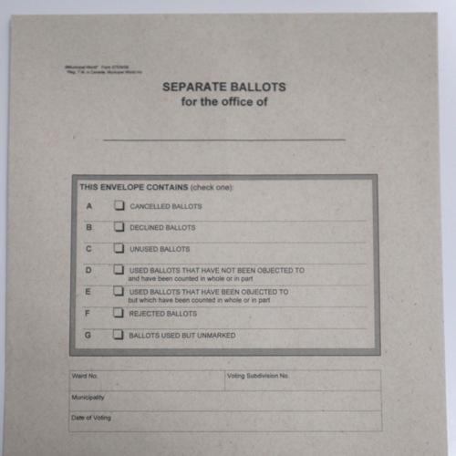 Separate Ballot Statement and Envelopes Kit