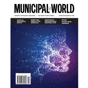 Municipal World Magazine's July 2018 issue cover, featuring: Artificial Intelligence