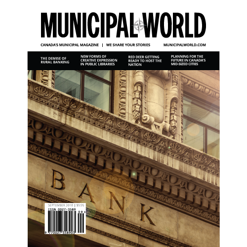 Municipal World Magazine September 2018 Cover - The Demise of Rural Banking