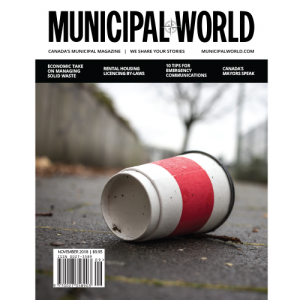 Municipal World Magazine November 2018 Cover - Economic Take on Managing Solid Waste