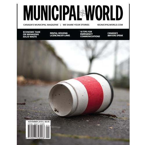 Municipal World Magazine November 2018 Cover - Economic Take on Managing Solid Waste