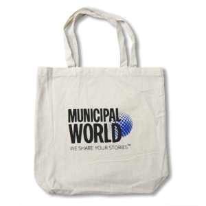 Exclusive Municipal World Tote Bag, perfect for carrying all of your Municipal Knowledge Series Books