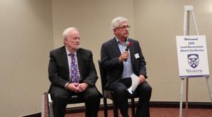 From left: David Siegel, Political Science Professor for Brock University, and David Szwarc, Senior Advisor at StrategyCorp.