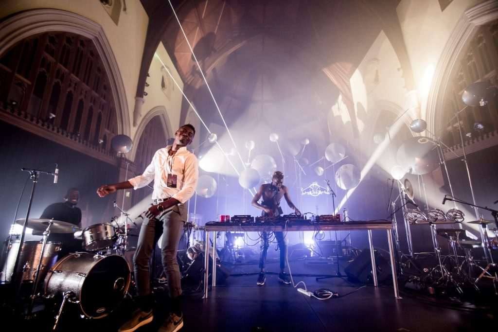 Musical performance inside a church
