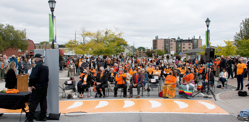 New crosswalks mark first National Day for Truth and Reconciliation